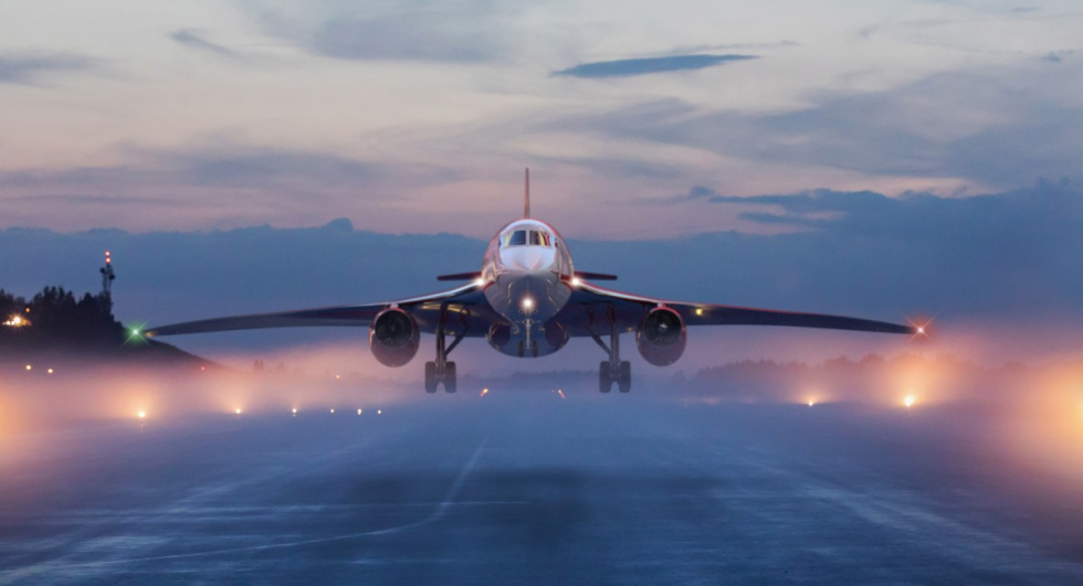 supersonic business jet take off