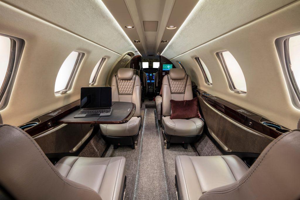 Interior of the new Citation CJ4 Gen2 business jet
