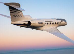 gulfstream g600 business jet in flight