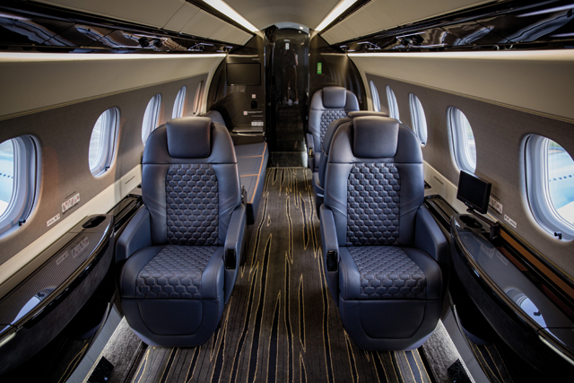 Embraer Praetor business jet interior