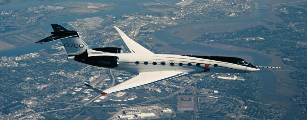 gulfstream g700 business jet test aircraft
