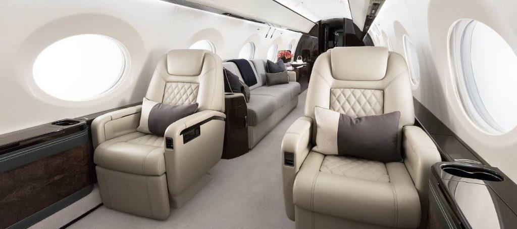 Gulfstream G500 business jet interior