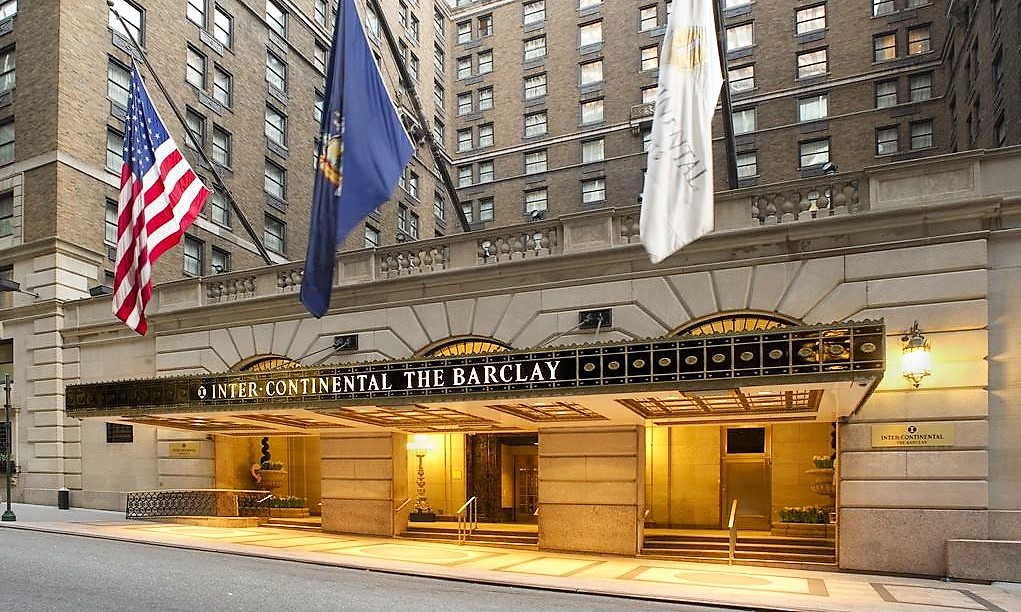 intercontinental barclay hotel new york