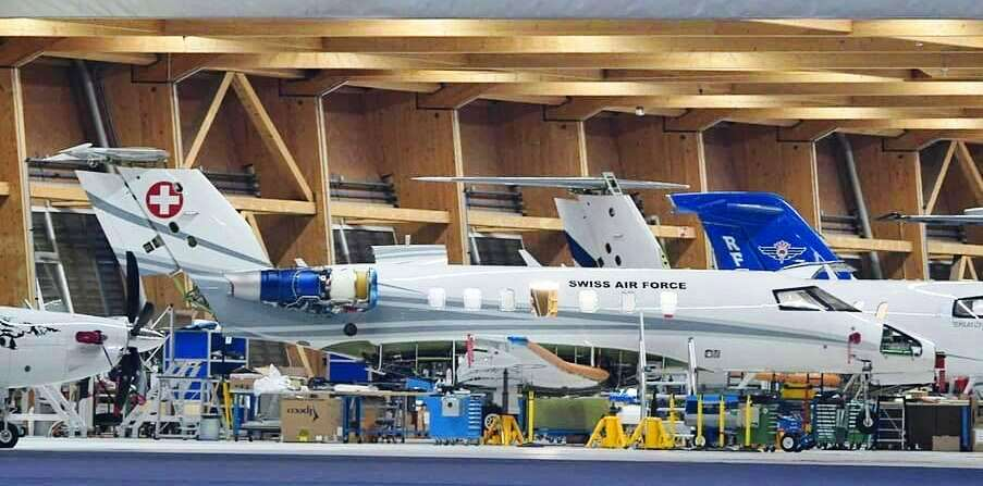 pilatus pc24 in final manufacture pre delivery to the swiss government
