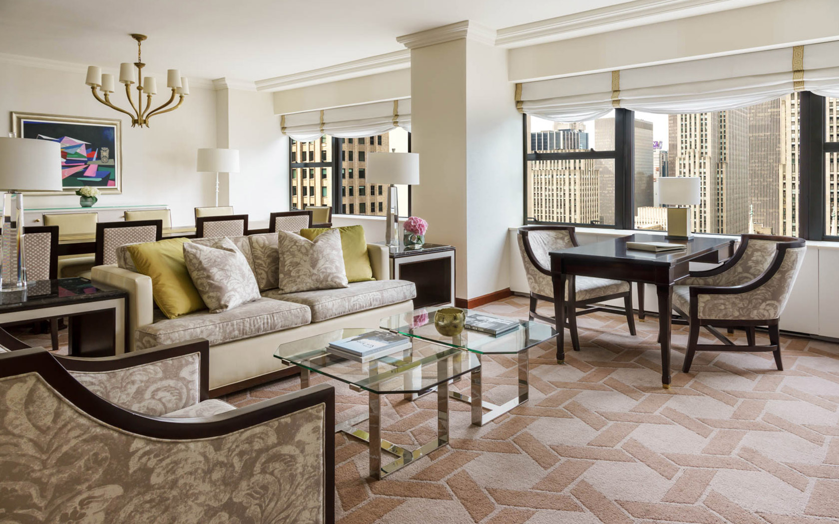 the lotte hotel new york corner suite