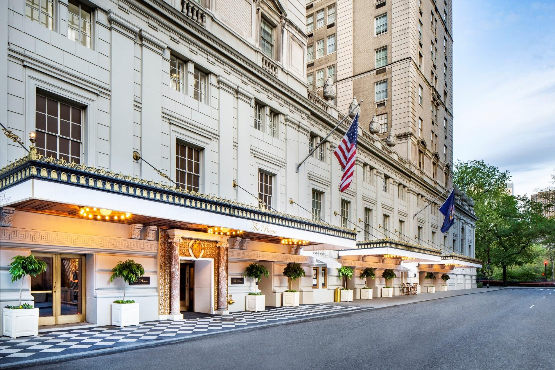 the pierre a taj hotel new york view of the hotel front from the road side