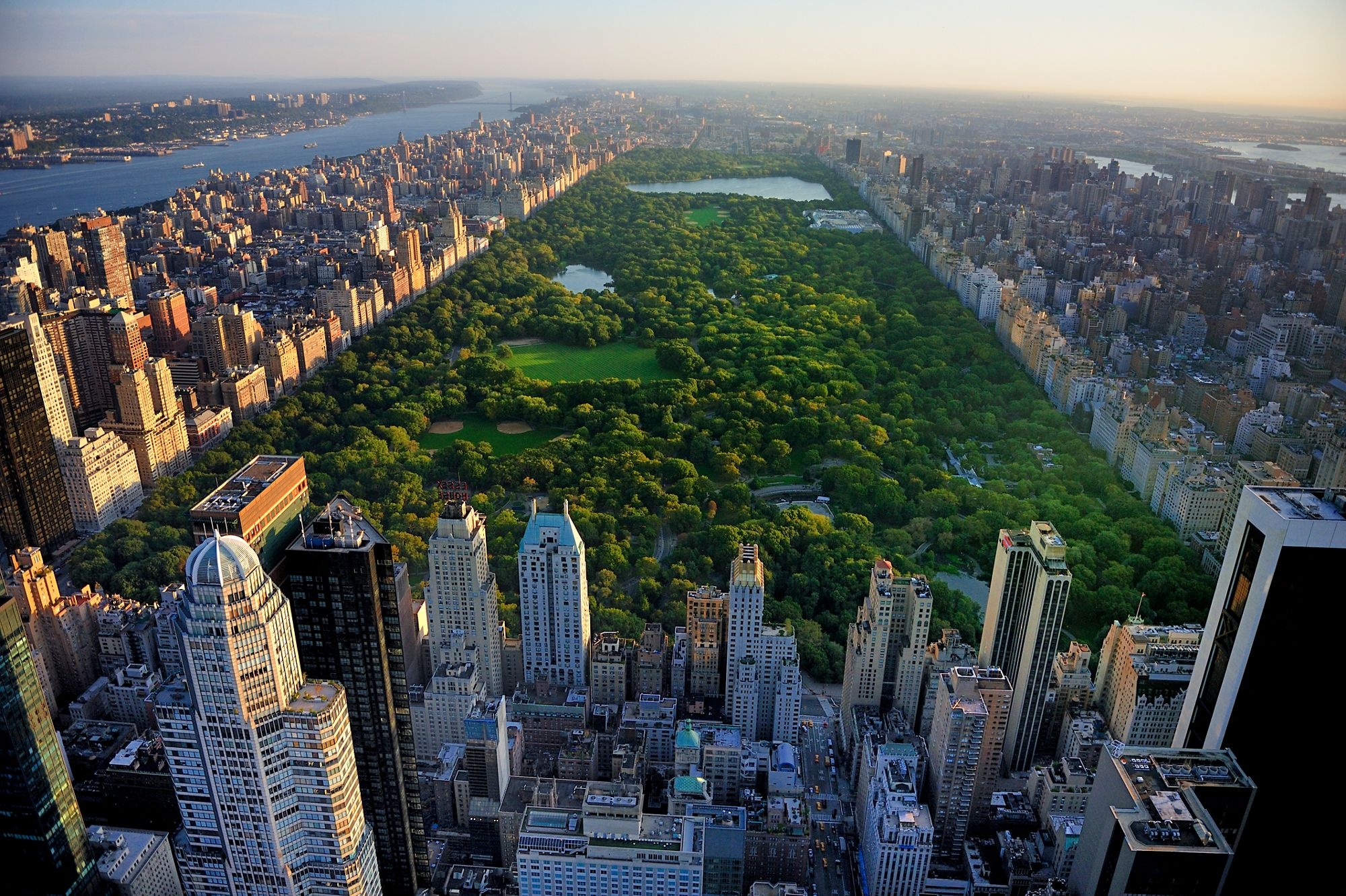 a view of central park from the ritz carlton hotel